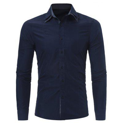 Down Patch Fit Slim Elbow Button Shirt WwxUYEwq6