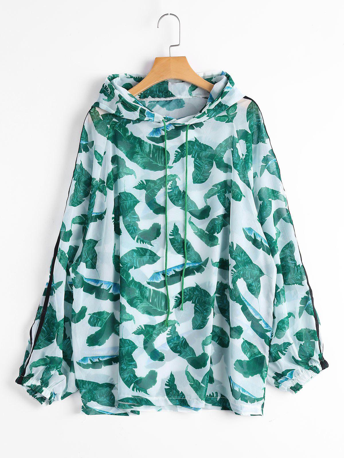 Tropical Print Sun Proof Hoodie