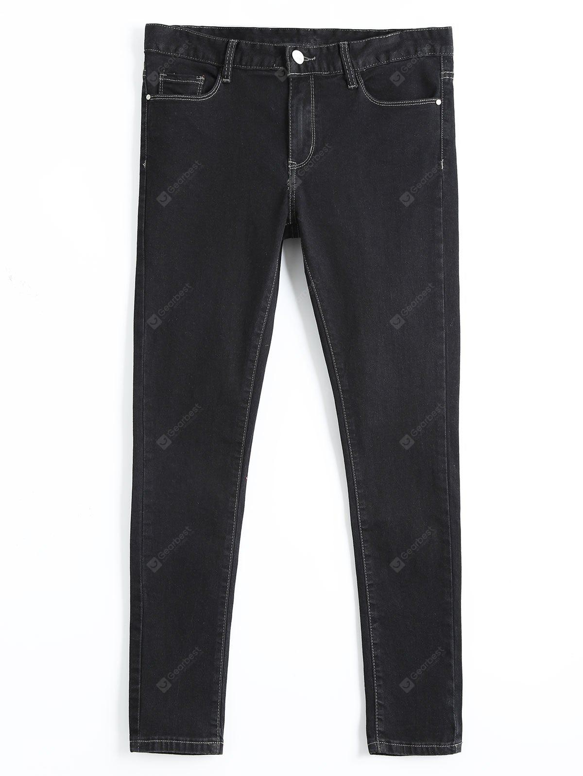 BLACK 28 High Waisted Skinny Pencil Jeans