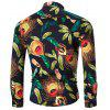 Slim Casual Long Sleeve Printed Shirt - COLORMIX