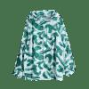 Tropical Print Sun Proof Hoodie - GREEN