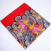 Lace and Flower Print Voile Wrap Scarf - RED