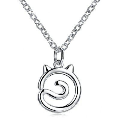 Simple Collier De Charme Chat En Alliage