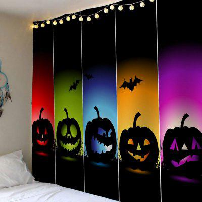 Buy COLORFUL Halloween Colorful Pumpkins Bats Waterproof Wall Tapestry for $12.27 in GearBest store