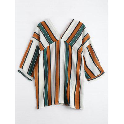 Striped V Neck Drop Shoulder BlouseBlouses<br>Striped V Neck Drop Shoulder Blouse<br><br>Collar: V-Neck<br>Material: Polyester<br>Occasion: Casual<br>Package Contents: 1 x Blouse<br>Pattern Type: Striped<br>Seasons: Autumn,Spring,Summer<br>Shirt Length: Long<br>Sleeve Length: Three Quarter<br>Style: Casual<br>Weight: 0.2200kg