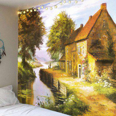 Pastoral Countryside Printed Wall Art Hanging Tapestry