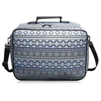 Buy BLUE Canvas Geometric Pattern Tote Bag for $29.43 in GearBest store