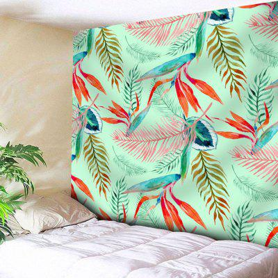 Buy GREEN Palm Leaves Print Wall Decor Tapestry for $18.42 in GearBest store