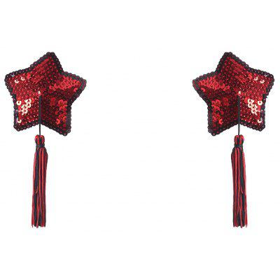 Star Sequins Tassel Nipple Covers