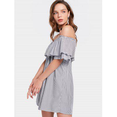 Off The Shoulder Mini Flounce Striped DressWomens Dresses<br>Off The Shoulder Mini Flounce Striped Dress<br><br>Dresses Length: Mini<br>Material: Polyester<br>Neckline: Off The Shoulder<br>Occasion: Causal, Going Out<br>Package Contents: 1 x Dress<br>Pattern Type: Striped<br>Season: Summer<br>Silhouette: Straight<br>Sleeve Length: Short Sleeves<br>Style: Casual<br>Weight: 0.2420kg<br>With Belt: No