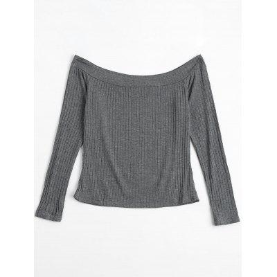 Long Sleeve Ribbed Off The Shoulder TopTees<br>Long Sleeve Ribbed Off The Shoulder Top<br><br>Collar: Off The Shoulder<br>Material: Cotton, Polyester<br>Package Contents: 1 x Top<br>Pattern Type: Solid Color<br>Seasons: Spring/Fall<br>Shirt Length: Regular<br>Sleeve Length: Full<br>Style: Fashion<br>Weight: 0.2000kg