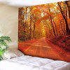 Maple Leaf Road Pattern Waterproof Wall Hanging Tapestry - SAUMON FONCé