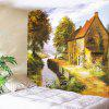 Pastoral Countryside Printed Wall Art Hanging Tapestry - COLORFUL