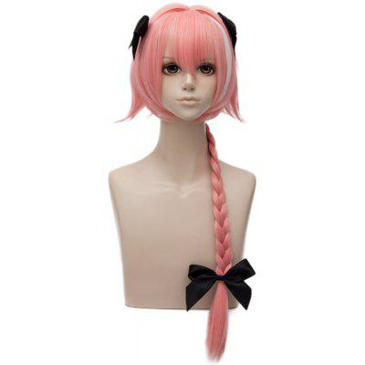 Long Side Bang Braid Highlight Straight Fate Apocrypha Astolfo Cosplay Anime Wig