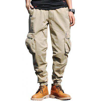 Drawstring Zip Fly Cargo Jogger Pants
