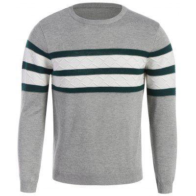 Pull Homme Ras du Cou à Rayures