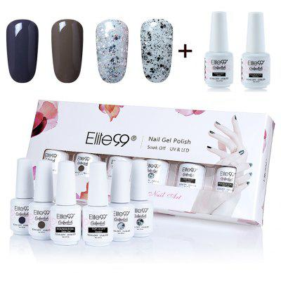 6 Pieces Elite99 Polish Waterproof Soak Off Gel Nail Gift Set