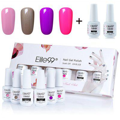 UV LED Gel Nail Polish Manicure Kit Elite99 4 Colors Set