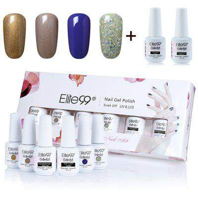 Polish UV LED Soak Off Elite99 Gel Nail Set with Glitter Powder