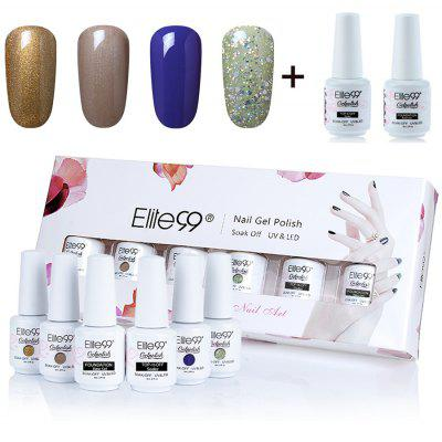 Elite99 Polish UV LED Soak Off 4 Colors Gel Nail Set