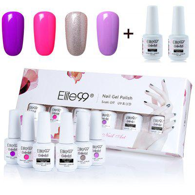 4 Colors Soak Off Elite99 Gel Polish Lacquer UV LED Nail Set