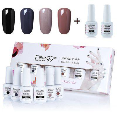 4 Deep Colors UV LED Soak Off Elite99 Gel Nail Polish Set