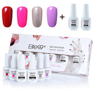 Soak Off 4 Colors Elite99 Gel Nail Polish Set with Glitter Powder