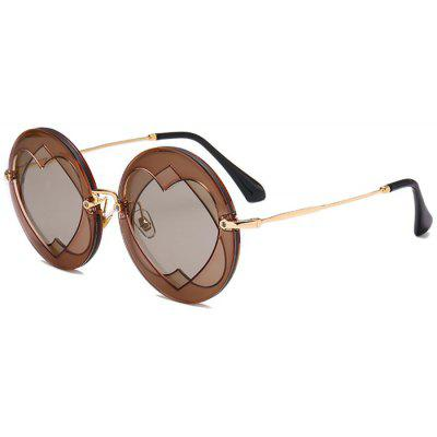 Double Reverse Heart Rounded Sunglasses