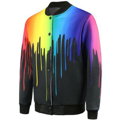 Paint Dripping Zip Up Jacket