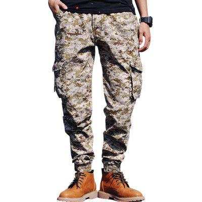Flap Pockets Camouflage Cargo Jogger Pants