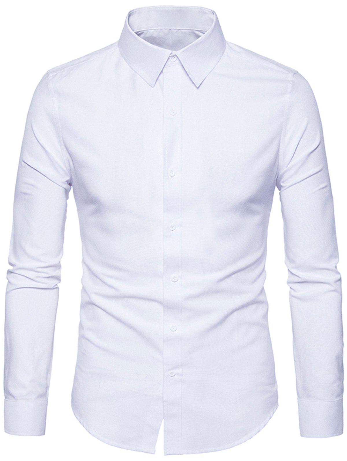 Turndown Collar Slim Fit Klassisches Hemd