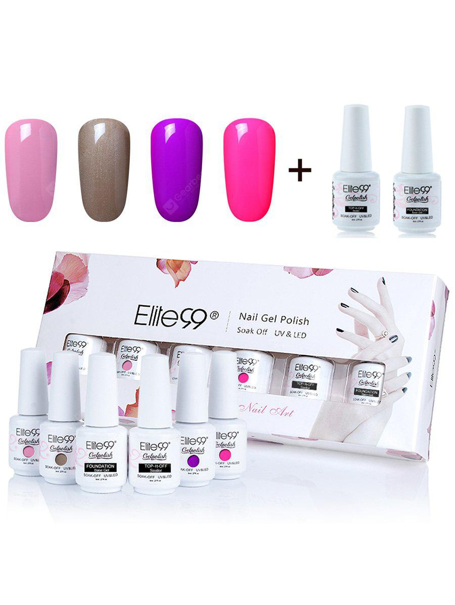 UV LED Gel Nail Polish Manicure Kit Elite99 4 Colors Set - $9.50 ...