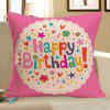Happy Birthday Printed Pillow Case - COLORFUL