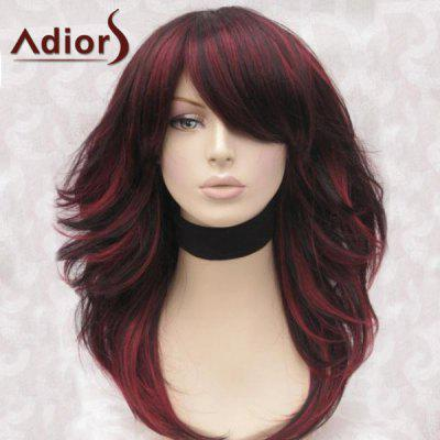 Maiores Long Side Bang Highlight Shaggy Straight Synthetic Wig