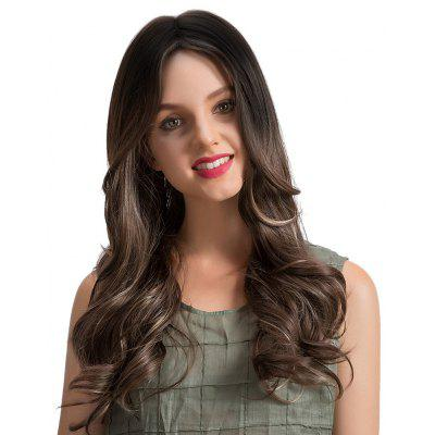 Longue partie médiane Ombre Wavy Synthetic Wig