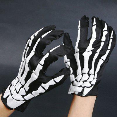 Halloween Party Cosplay Hand Bone Pattern Gloves