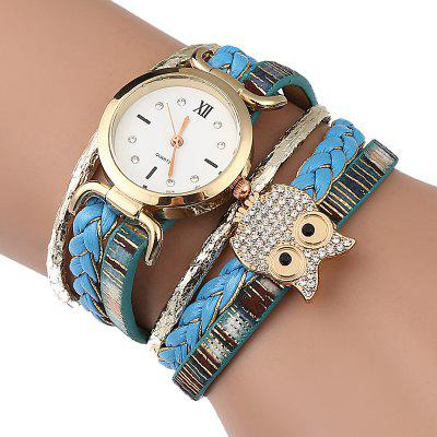 Owl Braid Bracelet Watch