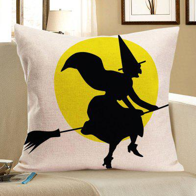 Buy COLORMIX Halloween Witch Pattern Decorative Pillow Case for $4.42 in GearBest store
