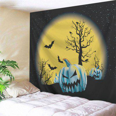 Buy COLORMIX Halloween Pumpkin Moon Wall Tapestry for $13.92 in GearBest store