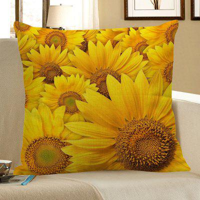 Buy YELLOW Multi Sunflowers Pattern Decorative Pillow Case for $4.42 in GearBest store