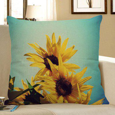 Buy YELLOW Home Decor Sunflowers Pattern Pillow Case for $4.42 in GearBest store