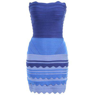 Ombre Color Night Out Tube Bandage Dress