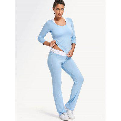 Sporty Bra with T-shirt with Pants Gym Suit