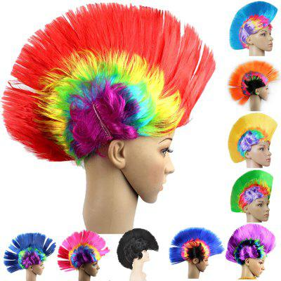 Christmas Halloween Carnival Decoration Mohawk Synthetic Party Wig