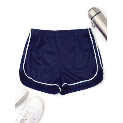 Buy BLUE L Satin Dolphin Shorts for $15.93 in GearBest store