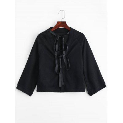 Snap Button Bow Ties Blouse