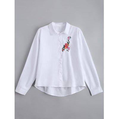 Button Down Floral Embroidered Shirt