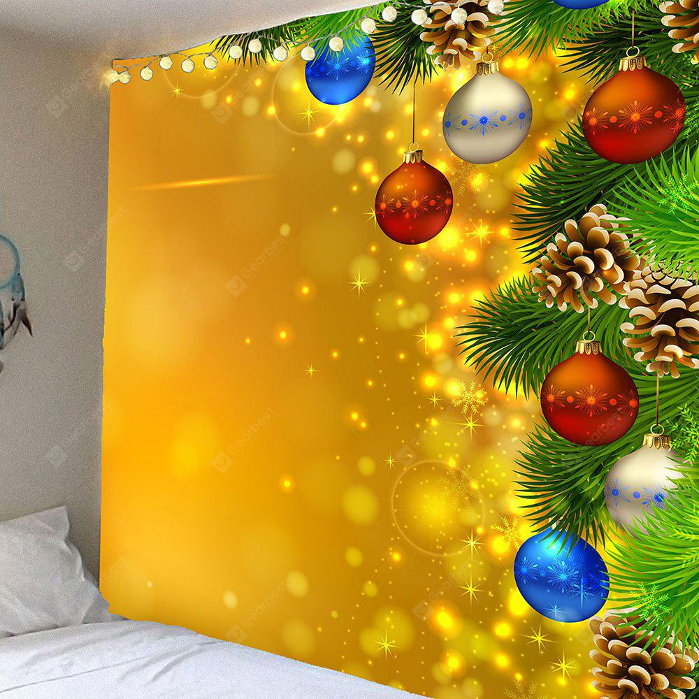 COLORFUL Christmas Light Pattern Waterproof Wall Hanging Tapestry