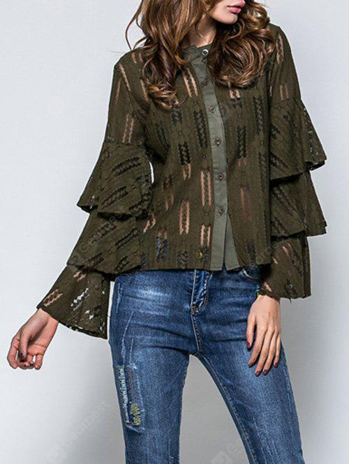 Layered Flare Sleeve Lace Top