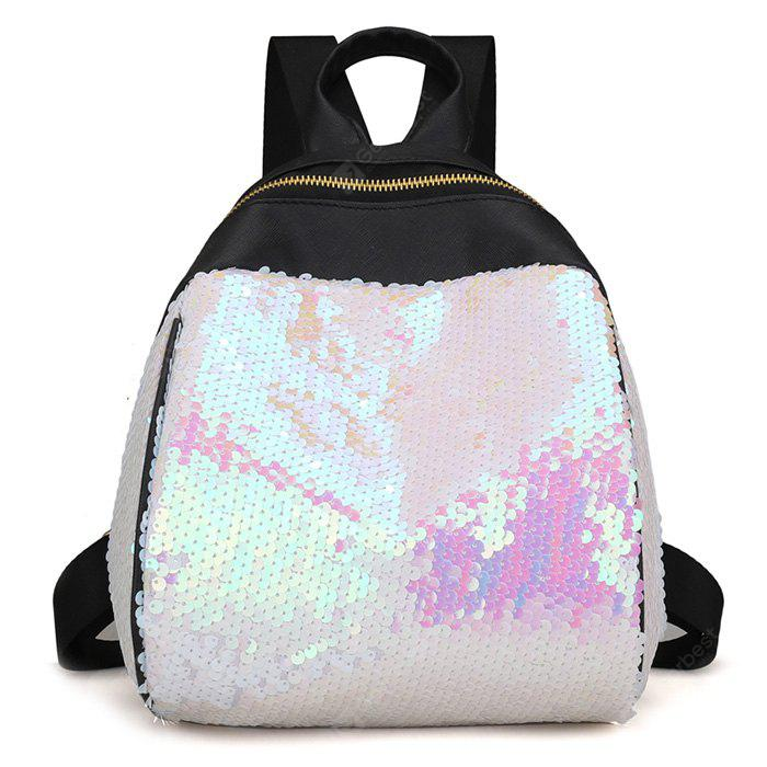 Sequins Faux Leather Backpack